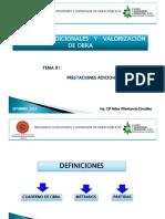 Adicionales y Elaboracion de Valorizaciones de Obras