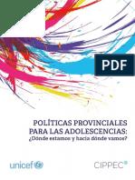 Díaz Langou, Repetto, Florito (2016) Politicas Provinciales Para Las Adolescencias. UNICEF-CIPPEC