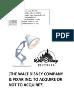 IBS - Answers to Disney Pixar Case