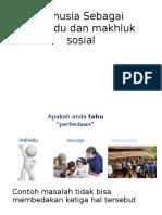Manusia Sebagai Individu Dan Makhluk Sosial