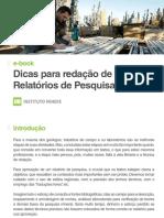E-book Dicas Para Redação de Relatórios de Pesquisa Mineral