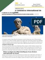 Les théories du commerce international de Platon à Krugman _ AlterEco+ Alterecoplus