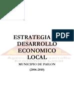 Estrategia de Desarrollo Municipio de Pailon