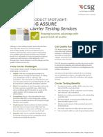 CSG Assure Carrier Testing Datasheet