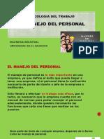 25. Manejo Del Personal. Presentacion (1)