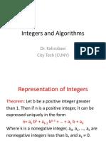 Integer Algorithm