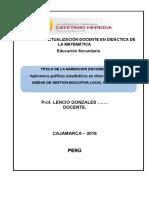 Modelo Sesion Aprendizaje Matematica 2016 Cayetano Heredia