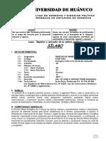 Silabus Derecho Minero 2017-I Propuesta