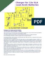 Battery Charger for 12v SLA