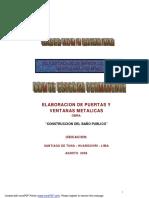 ELABORACION DE PUERTAS Y VENTANAS METALICAS