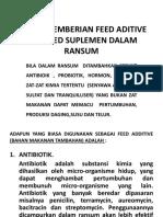 b.p & f.r. Feed Suplemen Dlm Ransum Ternak