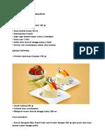 Pudding Cake Susu Topping Buah