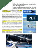 Río 2016 Por Qué Las Piscinas Olímpicas Son Mucho Más Rápidas Que Las Otras Piscinas