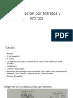 Intoxicacion Por Nitratos y Nitritos