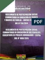 Reglamento de Concejos Educativos