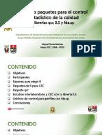 Diapositivas de La Conferencia Nuevos Paquetes de R El Control de La Calidad