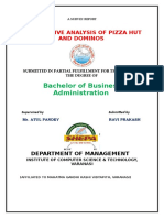 66505005 Comparitive Analysis of Dominos and Pizza Hut