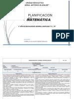 Plan de 3ero Bachillerato Matemática Básica
