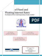 Analysis of Fixed and Floating Interest Rates