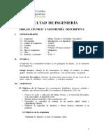 Dibujo Técnico y Geometría Descriptiva 2014 II