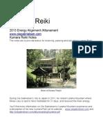 Kumara Reiki 2013 Attunement Notes