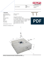 Design of Studs for Hss3x0.125 Hilti Output
