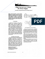 A High-current Low-Voltage DC Power Supply