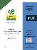 BPCL & MAK Lubricants Internship Report