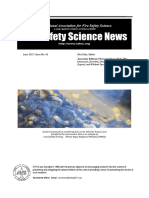 Fire Safety Science News No 41 - June, 2017