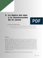 05- La Lógica Del Don y La Construcción de Lo Social