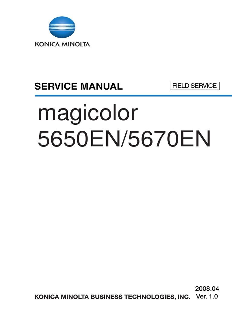 240044894 Konica Minoltamagicolor 5650 5670 Service Manual PDF | Ac Power  Plugs And Sockets | Laser
