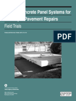 Precast Concrete Panel Systems for Full-Depth Pavement Repairs - Field Trials