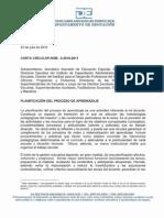 CARTA CIRCULAR NÚM. 2-2010-2011 - PLANIFICACIÓN DEL PROCESO DE APRENDIZAJE
