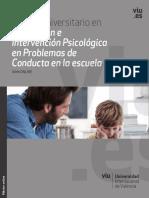 Presentación Prevención e Intervención Psicológica en Problemas de Conducta en La Escuela (1)