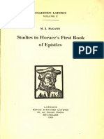 McGann, Studies in Horace's First Book of Epistles