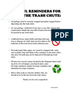 Trash Chute Reminders