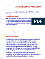 7 Kuliah PA Bab VII. Kualitas Air Untuk Pertanian.ppt