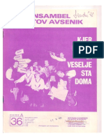 Avsenik - Album Za Harmoniko - Zvezek 36