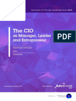 CIO as Manager Leader and Entrepreneur
