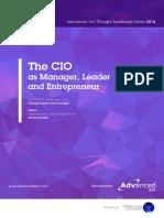 CIO as Manager Leader and Entrepreneur