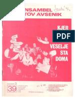 Avsenik - Album Za Harmoniko - Zvezek 39