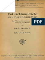 Ferenczi, Rank - Entwicklungsziele Der Psychoanalyse (Zur Wechselbeziehung Von Theorie Und Praxis) (1924)