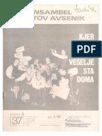 Avsenik - Album Za Harmoniko Zvezek 37