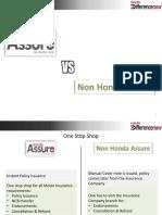 Benefit of Honda Assure and Non Honda Assure