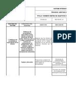 Formato Matriz de Objetivos Del Sistema Integrado de Gestion