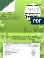 Plan de Alimentación en El Paciente Con Obesidad