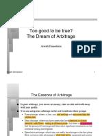 Arbitrage (Aswath)