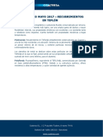 Diccionario Mayo 2017 - Recubrimientos en Teflón