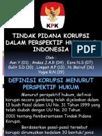 Tindak Pidana Korupsi Dalam Perspektif Hukum Di Indonesia