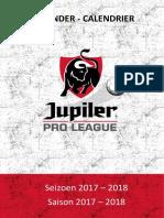 Kalender 2017 - 2018